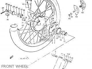 Suzuki TC125 1973 (K) USA (E03) parts lists and schematics