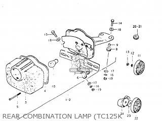 Suzuki Tc125 1974 (l) Usa (e03) parts list partsmanual