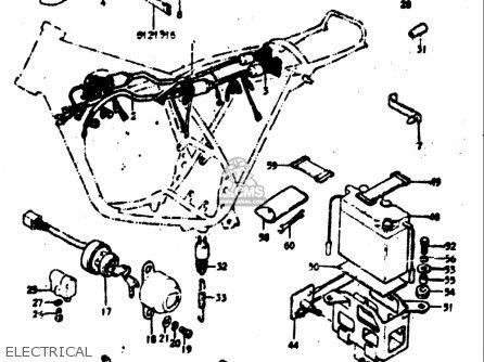 Suzuki Tc125 J,k,l,m 1972-1975 (usa) parts list