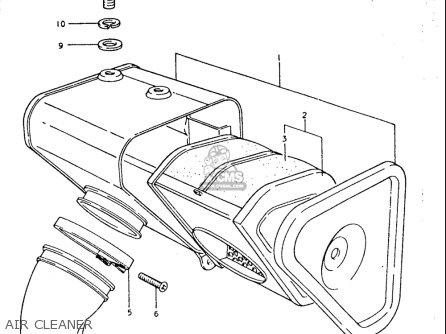 Suzuki Tc185 1974-1977 (usa) parts list partsmanual partsfiche