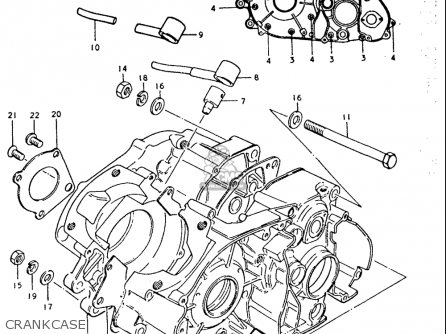 Suzuki Tc185 1974-1977 (usa) parts list partsmanual partsfiche