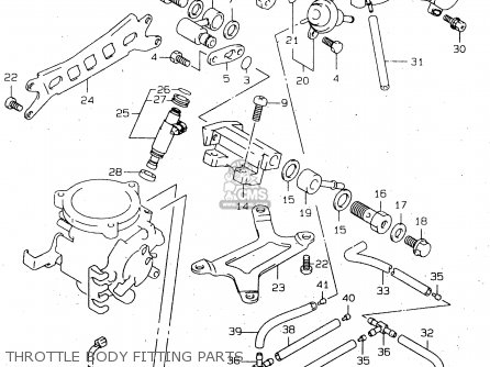 Suzuki TL1000R 1999 (X) parts lists and schematics