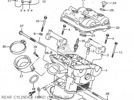 Suzuki TL1000S 1997 (V) (E02 E04 E18 E22 E24 E25 E34 E39