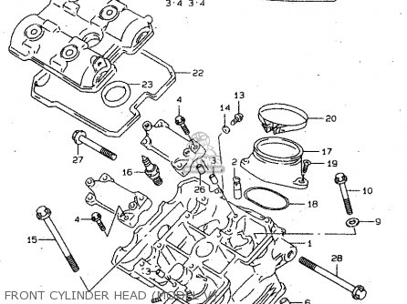 Suzuki TL1000S 2000 (Y) parts lists and schematics