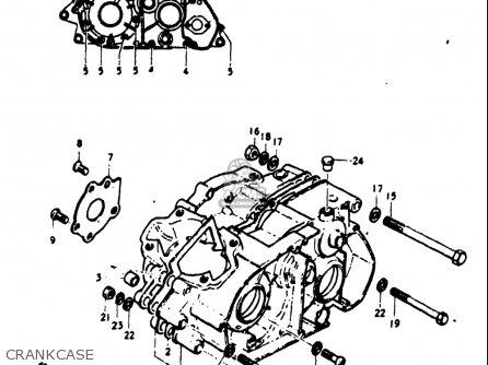Suzuki Tm125 1973-1975 (usa) parts list partsmanual partsfiche