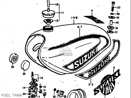 Suzuki Tm125 1973-1975 (usa) parts list partsmanual partsfiche