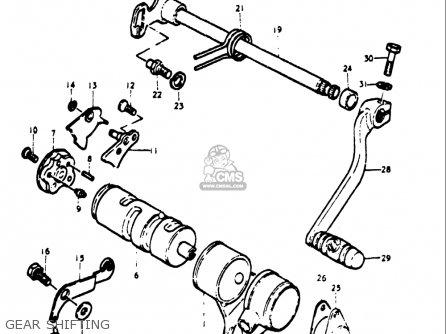 Suzuki Tm75 1974-1976 (usa) parts list partsmanual partsfiche