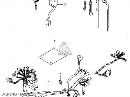 Suzuki TR50S 1999 (X) parts lists and schematics