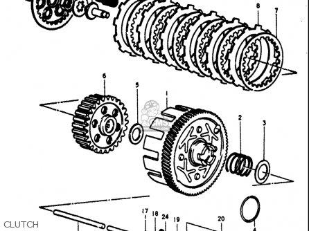 Suzuki Ts100 1973-1977 (usa) parts list partsmanual partsfiche