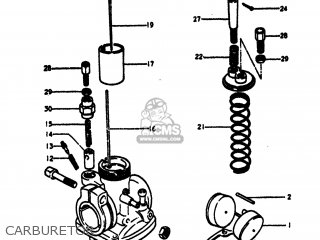 Suzuki TS100 1973 (K) USA (E03) parts lists and schematics