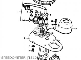 Suzuki TS100 1974 (L) USA (E03) parts lists and schematics