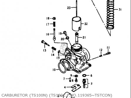 Suzuki Ts100 1978-1979 (usa) parts list partsmanual partsfiche