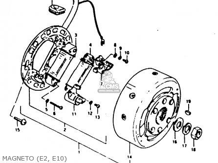 Suzuki Ts100 1980 (ert) parts list partsmanual partsfiche