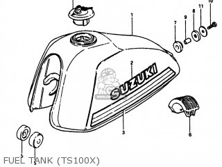 Suzuki TS100 1980 (T) USA (E03) parts lists and schematics