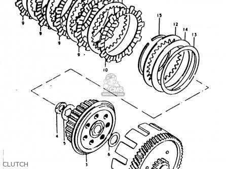 Suzuki Ts100 1981 (erx) parts list partsmanual partsfiche