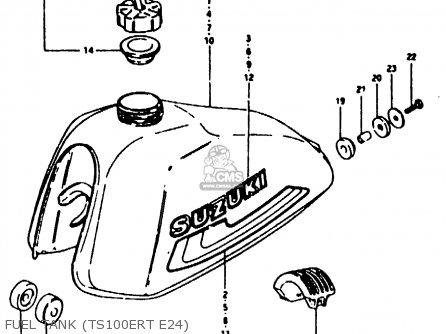 Suzuki TS100ER 1980 (T) (E01 E02 E09 E24 E30) parts lists