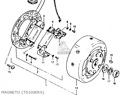 Suzuki Ts100erx 1981 (erx) (e01 E02 E08 E09 E10 E24 E30