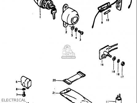 Suzuki Ts125 1971 1972 (r) (j) Usa (e03) parts list
