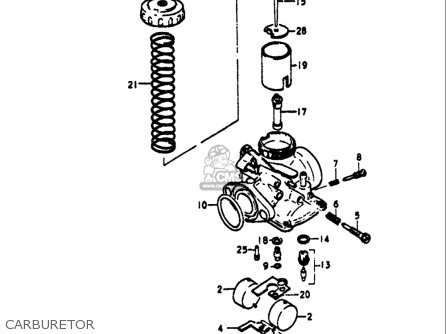Suzuki Ts125 1971-1972 (usa) parts list partsmanual partsfiche