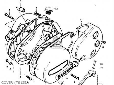 Suzuki Ts125 1973 (k) Usa (e03) parts list partsmanual