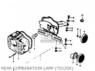Suzuki Ts125 1973 (k) Usa (e03) parts list partsmanual