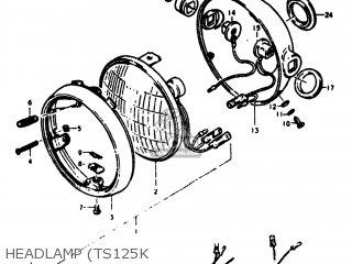 Suzuki TS125 1975 (M) USA (E03) parts lists and schematics