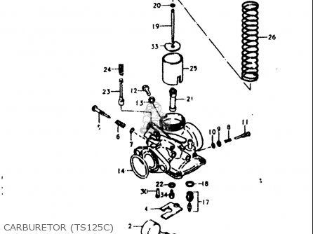 Suzuki Ts125 1978-1979 (usa) parts list partsmanual partsfiche