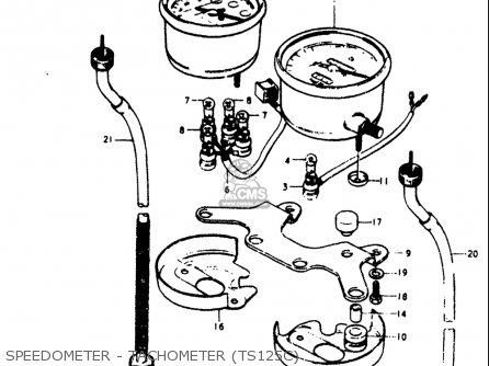 Suzuki Ts125 1978-1979 (usa) parts list partsmanual partsfiche