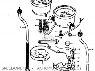 Suzuki Ts125 1978 (c) Usa (e03) parts list partsmanual