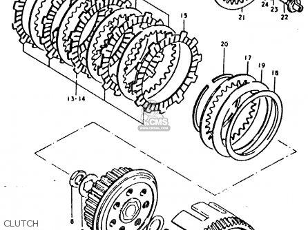 Suzuki Ts125 1979 (ern) parts list partsmanual partsfiche