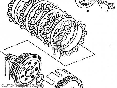 Suzuki Ts125 1979 (n) parts list partsmanual partsfiche