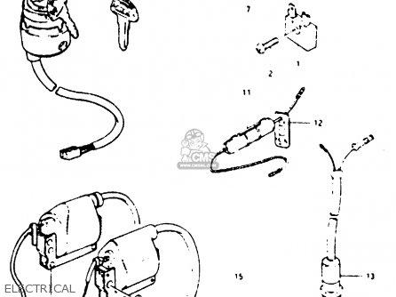 Suzuki Ts125 1979 (n) (e08 E13 E14 E24 E30 E31) parts list