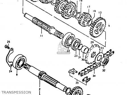 Suzuki TS125 1979 (N) (E08 E13 E14 E24 E30 E31) parts