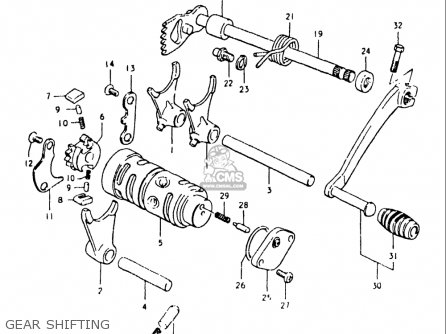 Suzuki Ts125 1980-1981 (usa) parts list partsmanual partsfiche