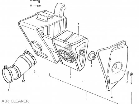 Suzuki Ts125 1980 (ert) parts list partsmanual partsfiche