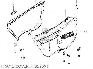 Suzuki TS125 1980 (T) USA (E03) parts lists and schematics