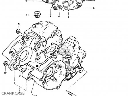 Suzuki Ts125 1982 (erz) parts list partsmanual partsfiche