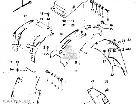 Suzuki Ts125 1984 (xue) parts list partsmanual partsfiche
