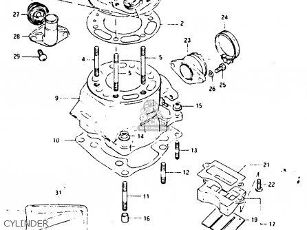 Suzuki Ts125 1986 (xg) parts list partsmanual partsfiche