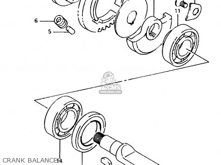 Suzuki Ts125 1991 (rm) parts list partsmanual partsfiche