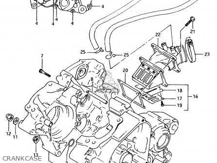 Suzuki Ts125 1991 (rm) parts list partsmanual partsfiche