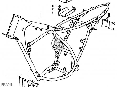 Suzuki TS125ER 1979 (N) parts lists and schematics