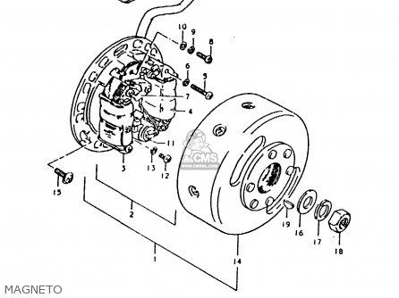 Suzuki TS125ER 1979 (N) parts lists and schematics