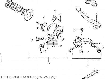 Suzuki TS125ER 1980 (T) (1 2 E4 E9 E15 E17 E18 E21 E22 E24
