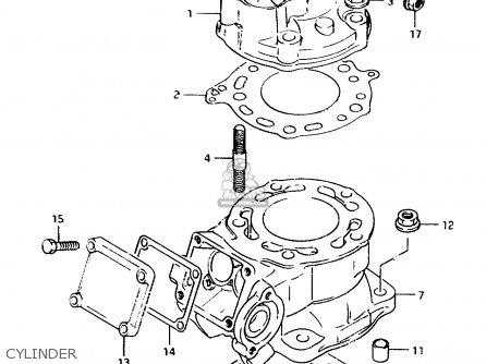 Suzuki TS125R 1989 (K) (E02 E04 E15 E17 E18 E21 E24 E34