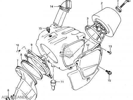 Suzuki Ts125r 1991 (m) parts list partsmanual partsfiche