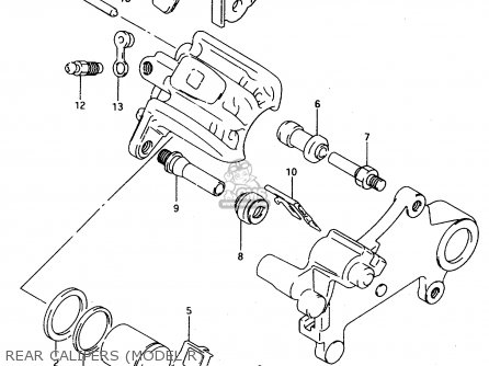Suzuki Ts125r 1991 (m) parts list partsmanual partsfiche