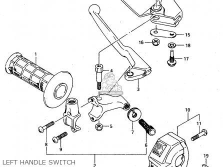 Suzuki Ts125r 1993 (p) (e02 E04 E18 E21) parts list