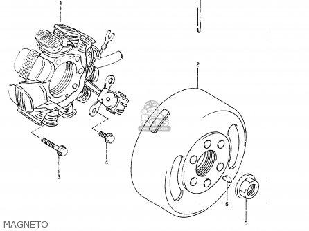 Suzuki Ts125r 1994 (r) (e02 E04 E18 E21) parts list