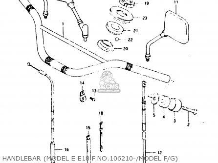 Suzuki TS125X 1986 (G) (E01 E02 E04 E06 E15 E17 E18 E21